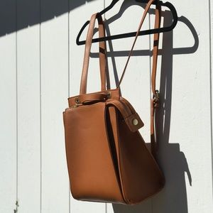 Street Level leather backpack
